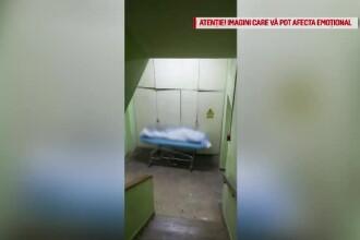 Amenzi după ce un pacient mort a fost lăsat pe targă, pe scara interioară a Spitalului Universitar