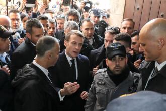 """VIDEO. Altercaţie între Macron şi poliţiştii israelieni la Ierusalim. """"Ieşiţi afară"""""""