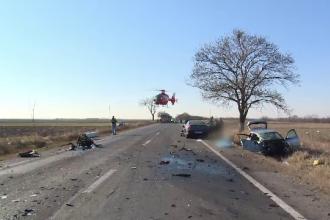 Un șofer a provocat o tragedie după ce a încercat să depășească o coloană de mașini