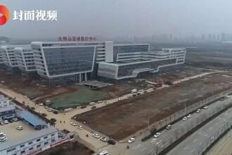 Chinezii au amenajat în 2 zile un spital pentru bolnavii de coronavirus. Cum arată