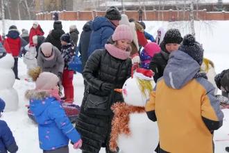 Festival dedicat oamenilor de zăpadă, în Rusia. CUm arată creațiile unice