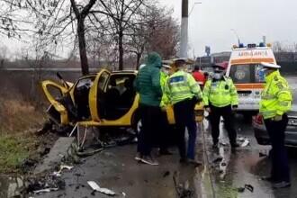 Taximetrist decedat în Drobeta Turnu Severin. Mașina lui, lovită frontal de un începător