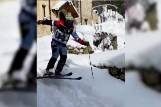 Modul inedit prin care un instructor de schi vrea să promoveze turismul într-un sat din Italia