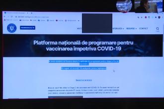 Platforma informatică pentru programare la vaccinare anti-Covid este disponibilă din nou. Au existat probleme tehnice