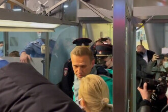 Opozantul rus, Alexei Navalnîi, a fost arestat la sosirea pe aeroportul din Moscova
