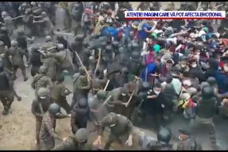 Ciocniri violente între armata din Guatemala și 9.000 de migranți care încercau să ajungă pe jos în SUA