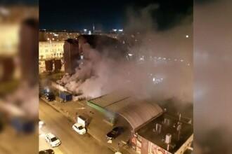 Incendiu la un adăpost pentru oamenii străzii din Capitală.