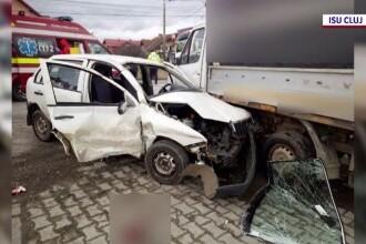 Accident violent în Cluj, din cauza unui șofer care a intrat pe DN1 fără să se asigure