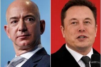 Dispută între Elon Musk și Jeff Bezos, pe tema constelaţiilor lor de sateliţi