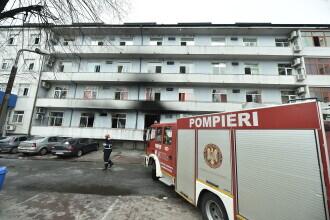Primele imagini după incendiul de la Matei Balș. Corpul de control al prim-ministrului a început verificările