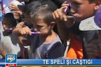 Educaţie pentru sănătatea dentară, într-un cartier de romi din Alba