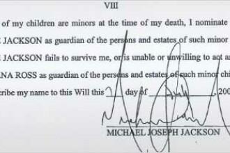 Testamentul lui Michael este un fals, anunta familia Jackson