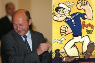 Cum ii vad romanii: Basescu - Popeye, Geoana - Tom motanul, Vadim - Tepes