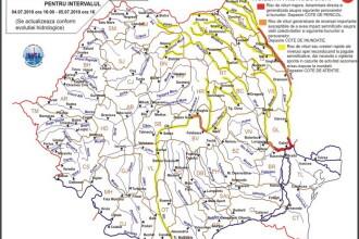 Codul ROSU de inundatii pe Prut si Siret prelungit pana miercuri