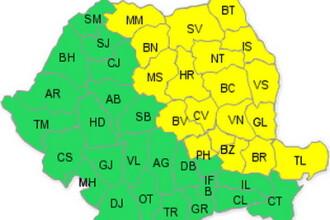 Din nou cod galben de ploi pentru Moldova, Transilvania si Dobrogea