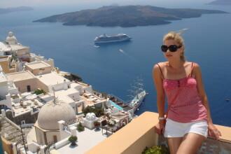 Ela Prodan de la Divertis a fost in luna de miere in Santorini