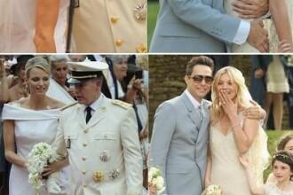 Kate Moss VERSUS Charlene de Monaco - cine a purtat cea mai frumoasa rochie de mireasa?