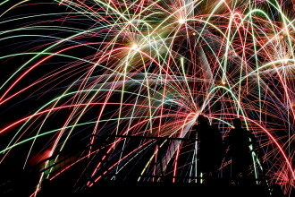 A fost lumina ca in plina zi in noaptea de Anul Nou, pe toata Valea Prahovei