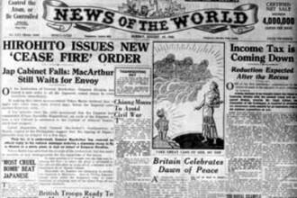 De la scufundarea Titanicului la bomba de la Nagasaki. Istoria surprinsa de News of the World
