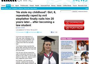 Povestea fetei violate de tatal ei 9 ani, care a facut Dreptul ca sa-l bage la inchisoare