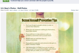 Decalogul contra hartuirii sexuale, pus pe Facebook de Marina americana
