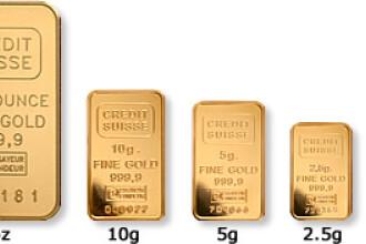 Valoarea aurului de la BNR s-a dublat