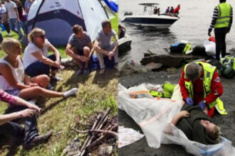 FOTO SI VIDEO.IMAGINI TULBURATOARE din insula terorii: tinerii din Norvegia, inainte si dupa masacru