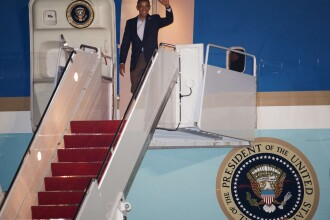 Telefonul dat de Barack Obama din Air Force One, publicat de presa.