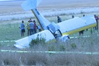 Un avion de mici dimensiuni s-a prabusit la Costinesti cu 2 oameni la bord