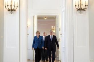 Un presedinte al Germaniei face extrem de rar asa ceva. Angela Merkel, surprinsa total