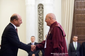 Presedintele suspendat, Traian Basescu, a fost la Curtea Constitutionala