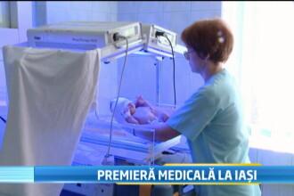 Premiera medicala. O transfuzie de sange a salvat viata unui bebelus aflat inca in uterul mamei