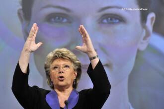 Viviane Reding, comisar european:Criza politica din Romania ar putea prejudicia aderarea la Schengen