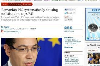 Guardian citeaza raportul Comisiei Europene: