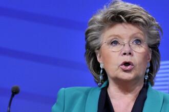 Viviane Reding, despre amanarea aderarii Romaniei la Schengen. MAE acuza o posibila discriminare