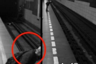O tanara a scapat nevatamata dupa ce a cazut in fata metroului, la Praga. VIDEO