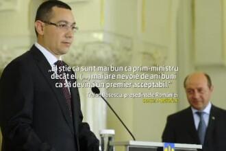 Razboiul replicilor dintre presedinte si premier. Basescu: