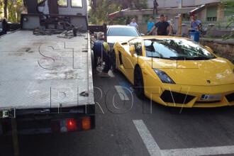 Ce s-a intamplat cand politistii au vrut sa ridice acest Lamborghini, parcat neregulamentar. FOTO