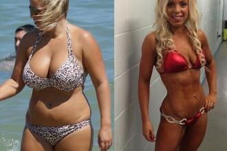 A fost ingrozita cand a vazut cum arata in bikini. Transformarea dupa 18 luni a facut-o sa planga