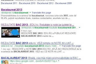 iLikeIT. Batalia pentru BACALAUREAT 2013 in mediul online romanesc pe Google, Facebook si Twitter