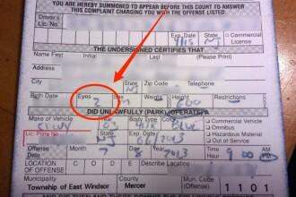 A izbucnit in ras dupa ce a fost amendat: ce i-a scris un politist pe amenda unui sofer