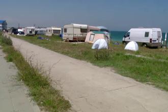 Plajele 2 Mai si Vama Veche au ajuns orase de vacanta. Cat te costa un concediu la mare cu rulota