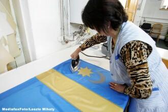 Liviu Dragnea a fost intampinat cu steaguri secuiesti si afise, in drumul spre Balvanyos