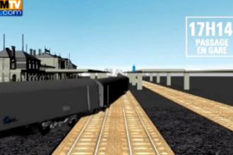 ANIMATIE GRAFICA. Filmul tragediei feroviare din Franta:E posibil sa gasim si alti morti sub vagoane