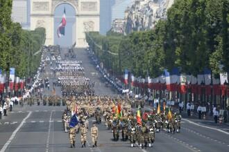 Ziua Nationala a Frantei. Parada militara impresionanta si focuri de artificii in centrul Parisului
