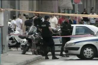 Schimb de focuri in apropierea cartierului general al politiei elene. Un roman, implicat in incident