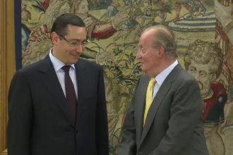 Ponta, in fata Regelui Spaniei: In Romania, social-democratii prefera monarhia, decat un presedinte