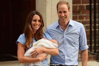 Primele imagini cu copilul lui Kate Middleton. Printul William: