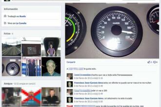 Conductorul trenului deraiat in Spania se lauda pe Facebook ca merge cu 200 km/h: