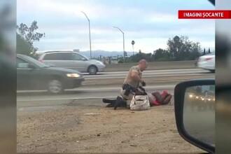 Imagini revoltatoare in Statele Unite. Un politist loveste cu pumnii o femeie, in plina strada